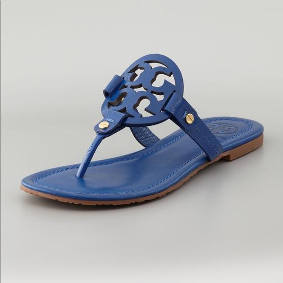 d8d840618 Tory Burch Blue Miller Sandals. M 5a63efb06bf5a6c54ba5d4a7